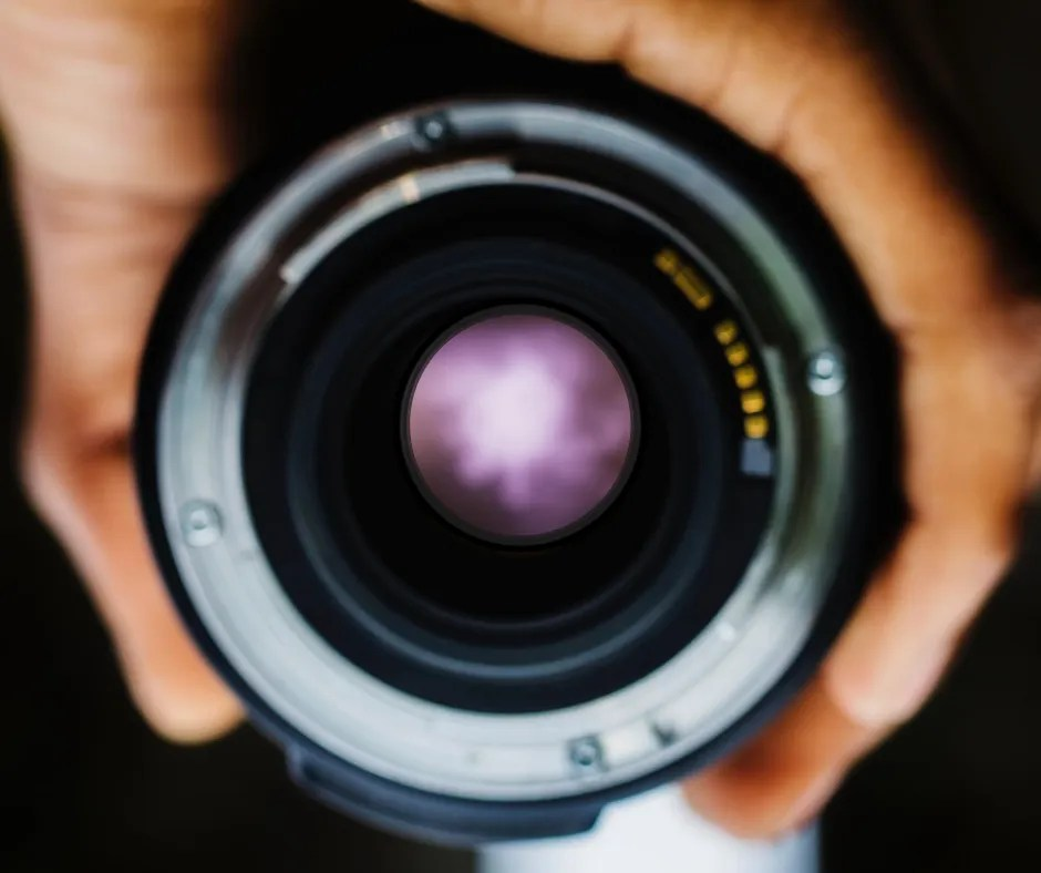 camera lens with blurry picture