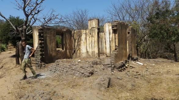 Crumbling ruin and Maciek