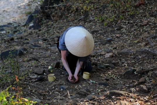 Collecting earth
