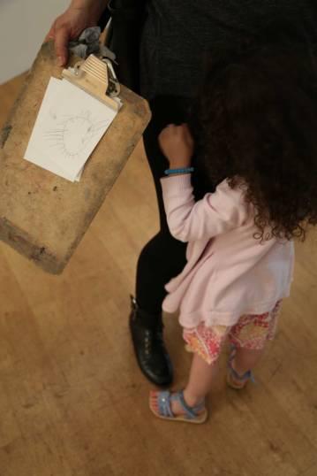 Ella's drawing of drawing ball
