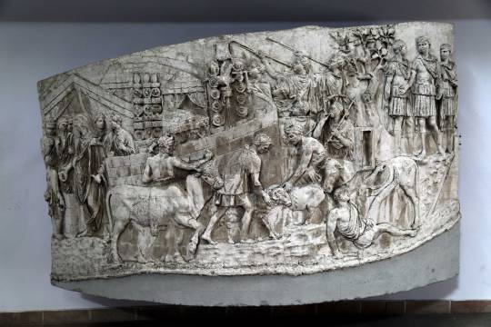 Emperor Trajan acts as a high priest