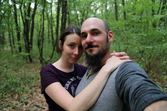 Forest selfie