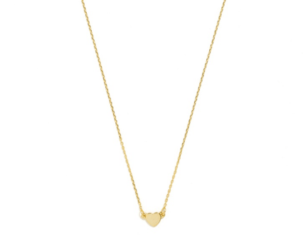 gold bauble bar heart necklace