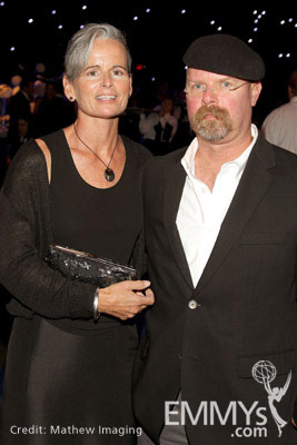 Jamie Hyneman Eileen Walsh : jamie, hyneman, eileen, walsh, Eileen, Walsh, Jamie, Hyneman, Attend, Governor's, During, Primetime, Creative, Awards, Nokia, Theatre, Television, Academy