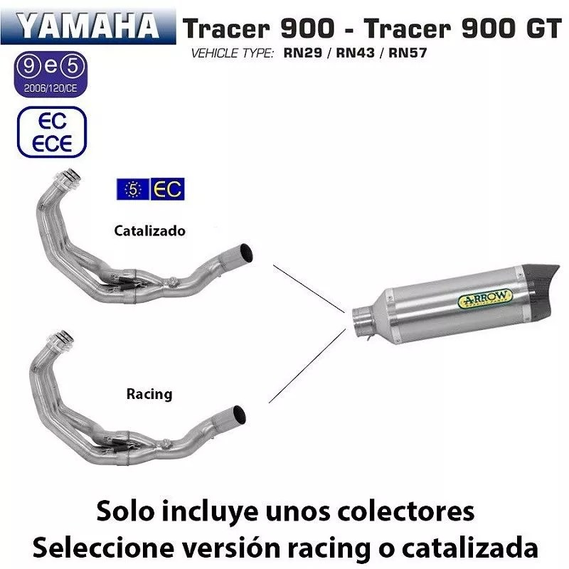 Escape completo Arrow Yamaha Tracer 900 2015-2018 Street