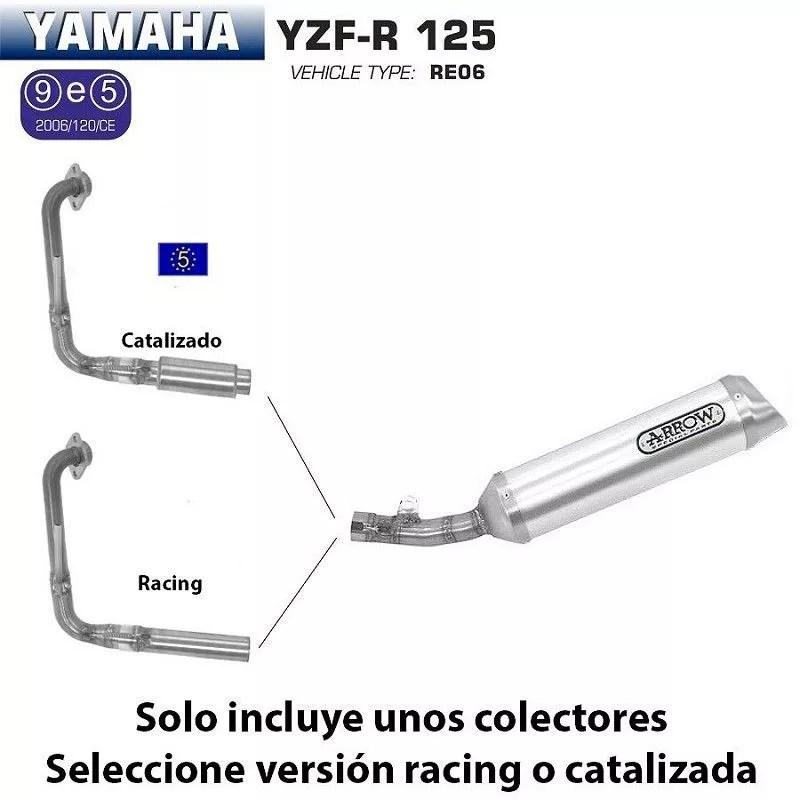 Escape completo Arrow Yamaha YZF-R 125 2008-2013 Street