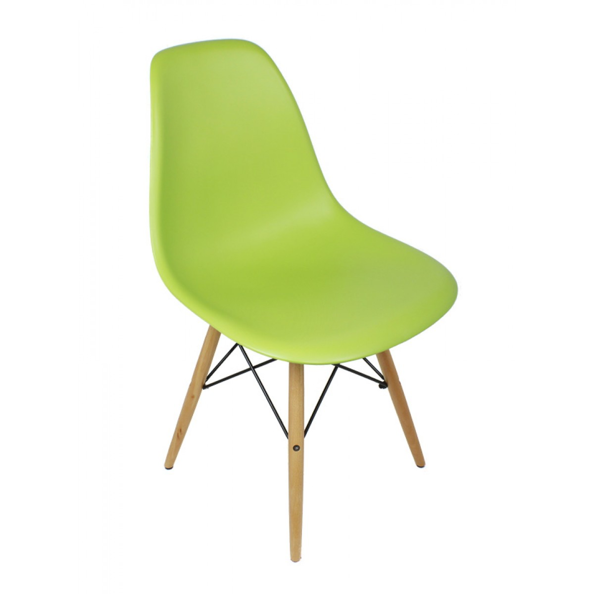 Lime Green Chair Set Of 2 Eames Style Dsw Molded Lime Green Plastic Dining