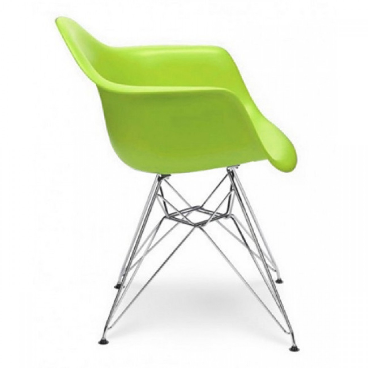 Lime Green Chairs Dar Molded Lime Green Plastic Dining Armchair With Steel Eiffel Legs