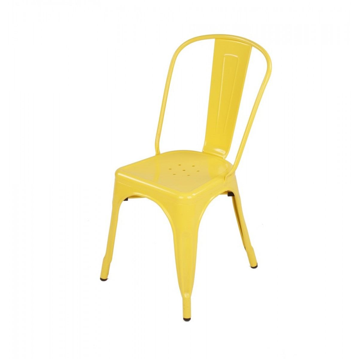 Yellow Metal Chairs Tolix Style Metal Industrial Loft Designer Yellow Cafe Chair