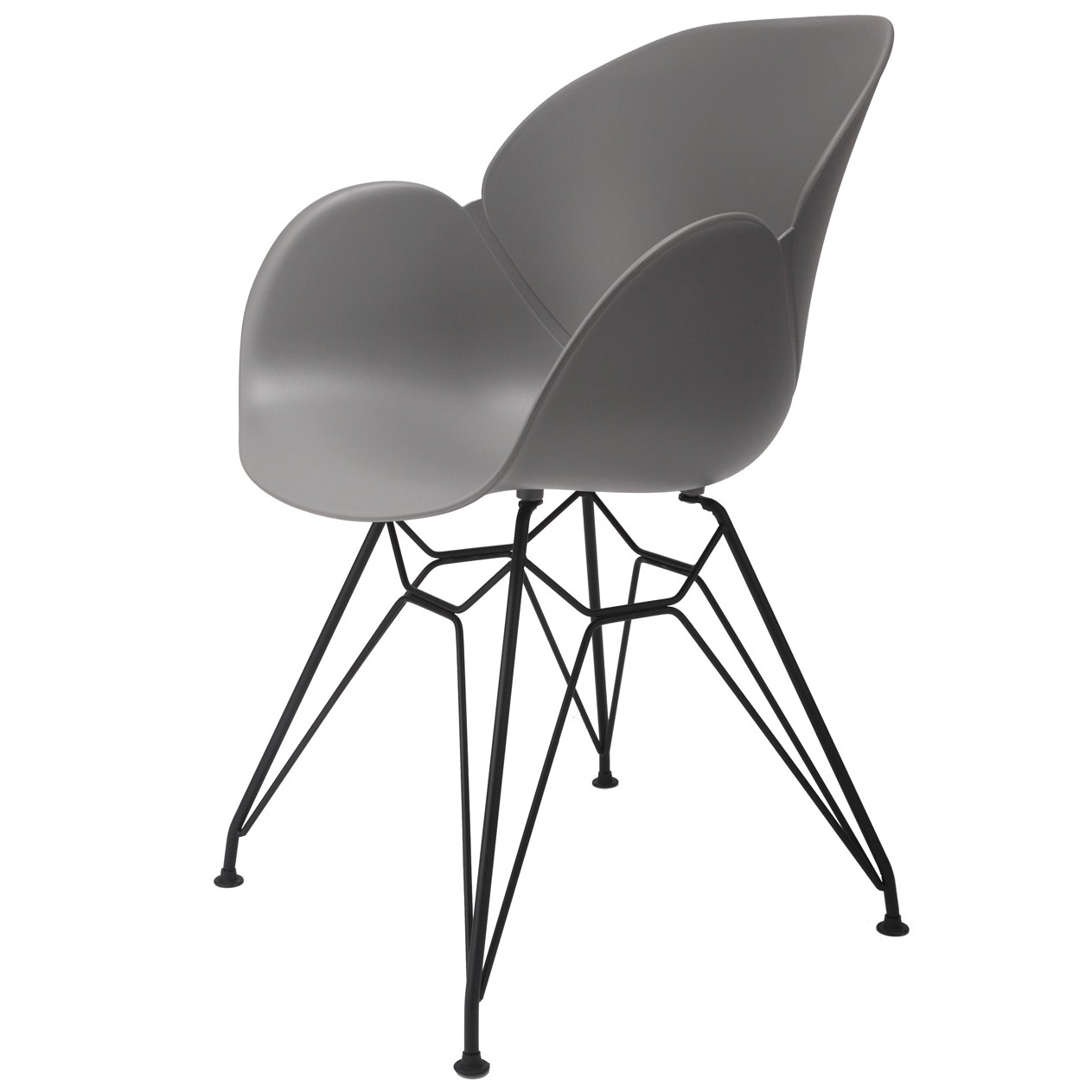 Accent Dining Chairs Flora Gray Modern Accent Dining Chair With Black Steel Legs