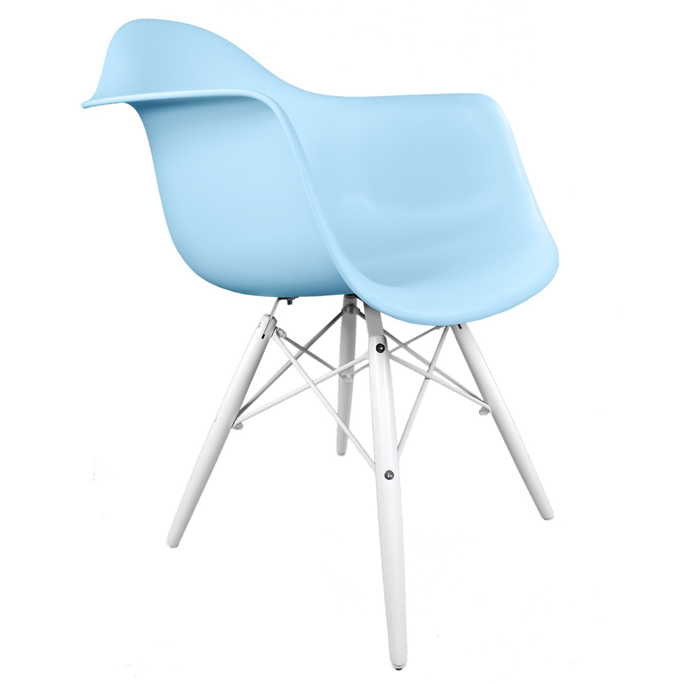 Blue Accent Chair With Arms Eames Style Daw Molded Light Blue Plastic Accent Arm Chair
