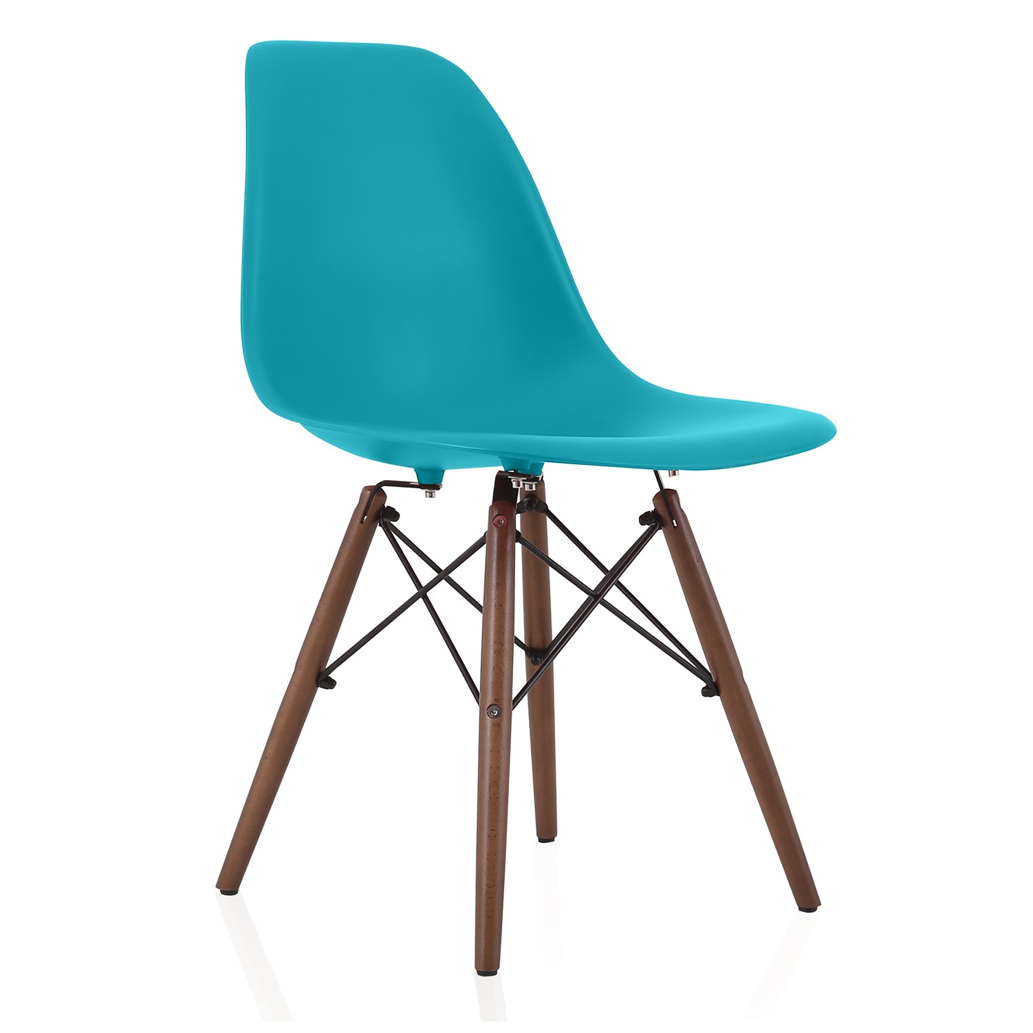 Plastic Dining Chairs Nature Series Teal Blue Eames Style Dsw Molded Plastic