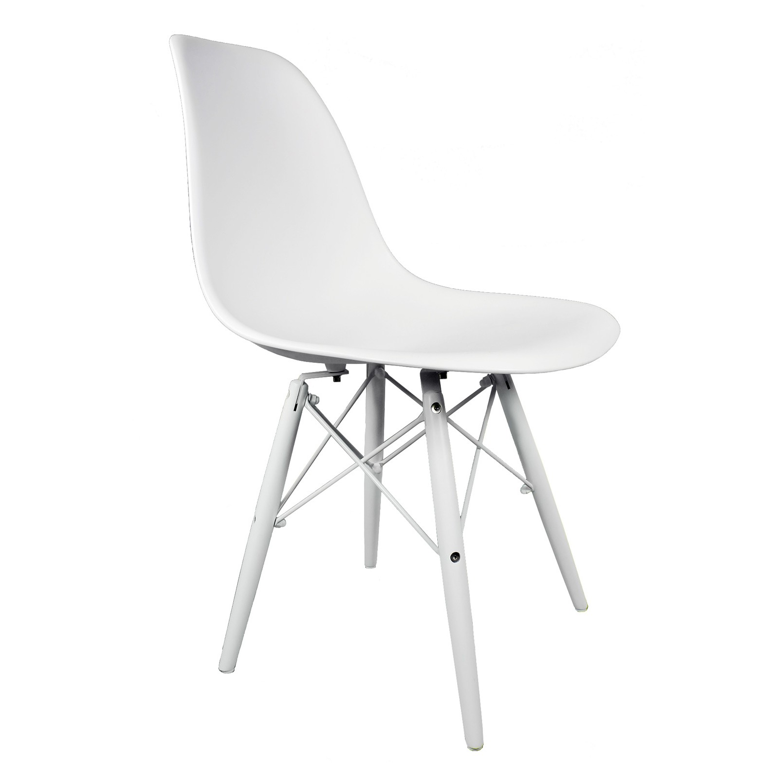 Dsw Chair Eames Style Dsw Molded White Plastic Dining Shell Chair