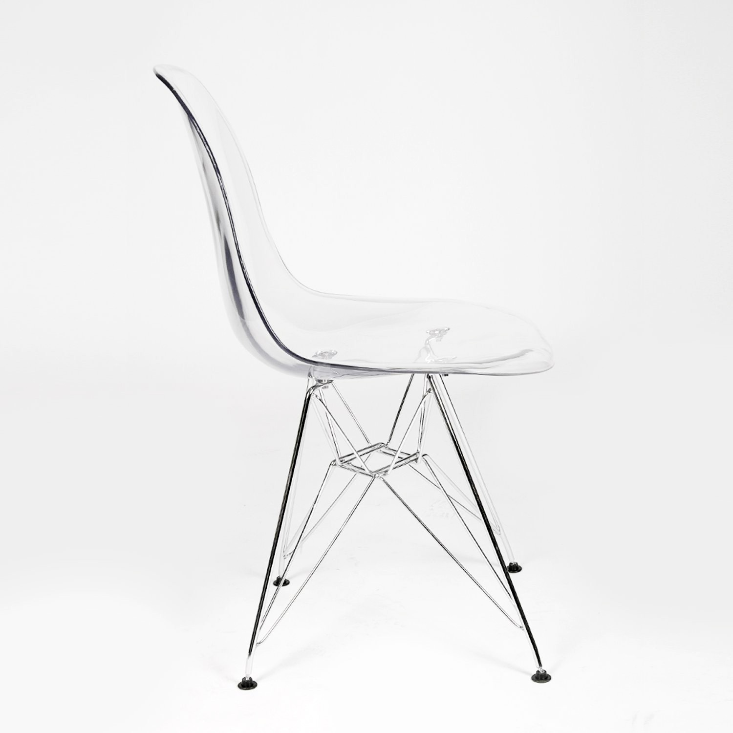 Plastic Clear Chair Dsr Clear Acrylic Plastic Dining Shell Chair With Steel Eiffel Legs