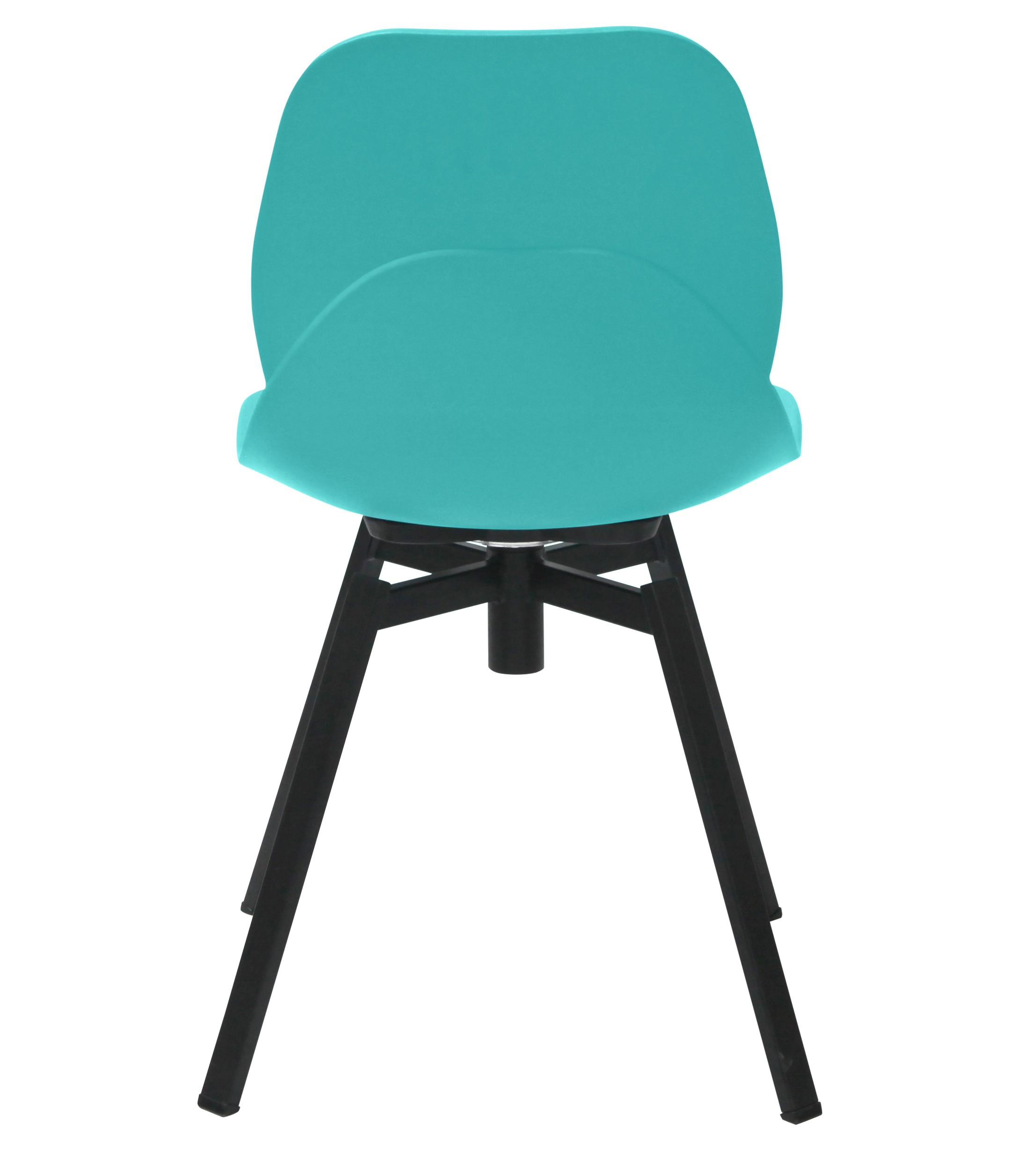 Turquoise Side Chair Joy Series Turquoise Dining Shell Side Chair Black Leg