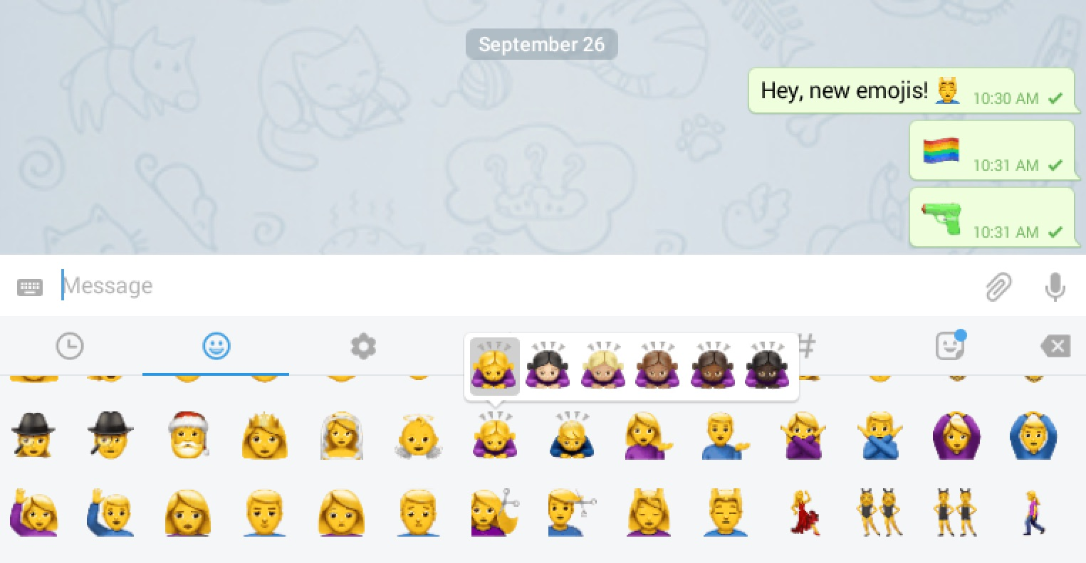 telegram emoji and stickers