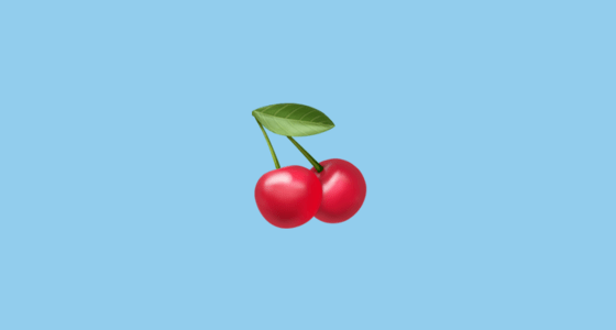 Fall Creators Update Wallpaper Cherries Emoji