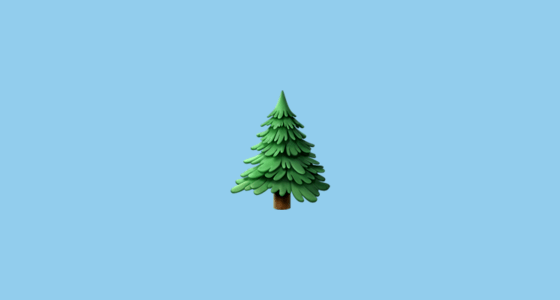 Evergreen Tree Emoji