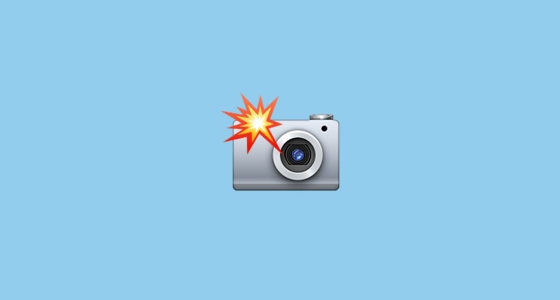 Camera With Flash Emoji on Apple iOS 100