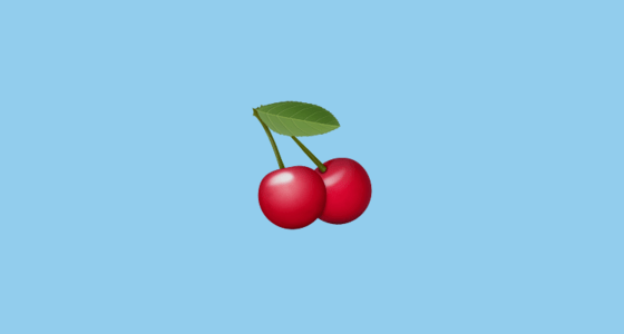Cherries Emoji on Apple iOS 100