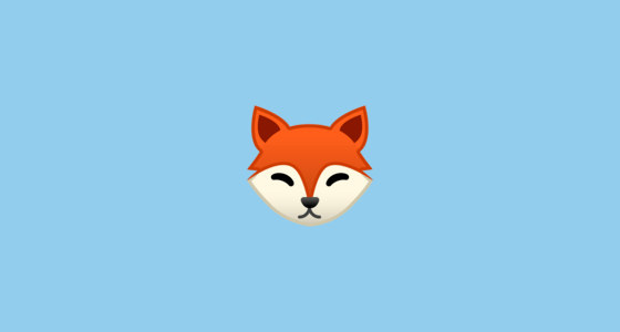 Fox Face Emoji on Google Android 80