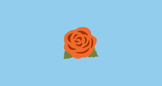 Rose Emoji on Google Android 70