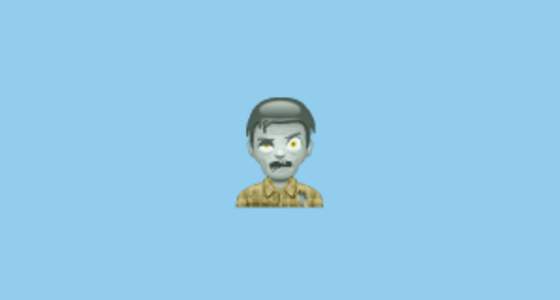 Man Zombie Emoji on WhatsApp 217