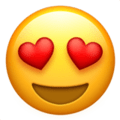 Smiling Face With Heart-Eyes on Apple iOS 11.2 Coussin emoji, signification smiley, signification emoji