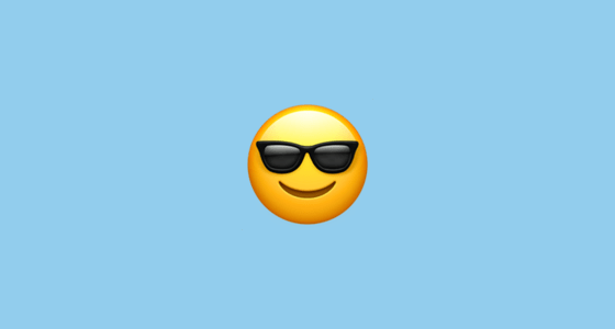 9122ddd40cb Smiling Face With Sunglasses Emoji