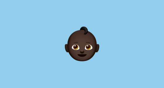 baby with black skin