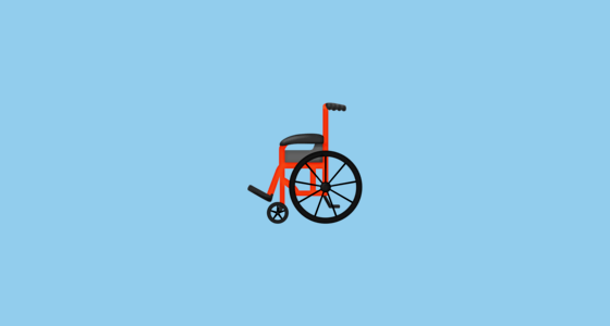 wheelchair emoji adirondack resin chairs thread by emojipedia 230 new emojis coming to phones in 2019 blog manual a without any motor distinct from symbol which is used as signage indicate accessible facilities