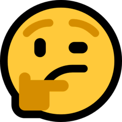thinking face emoji meaning