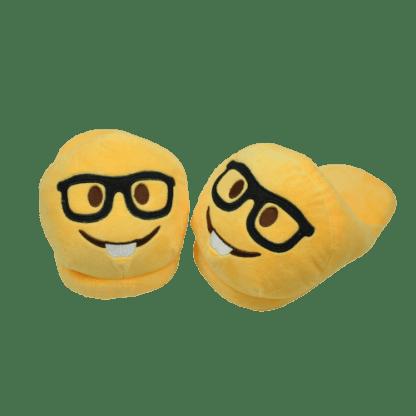 Emojitofflor som är en nörd