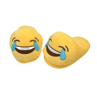 Emojitofflor med tårar av glädje