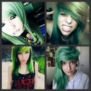 green emo hair inspiration