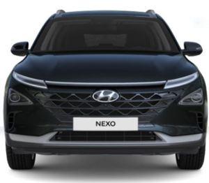 Hyundai-Nexo-Brennstoffzellen-Auto-Wasserstoff-H2-Elektroauto-platt-vorn-vorne-dusk-blue-mineraleffekt-Foto-Hyundai
