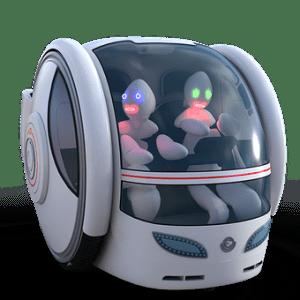 Roboter Auto mit zwei Mars Männchen am Steuer -Autonomes Fahren, Zukunft des Autos - PIXABAY - BEITRAGSBILD