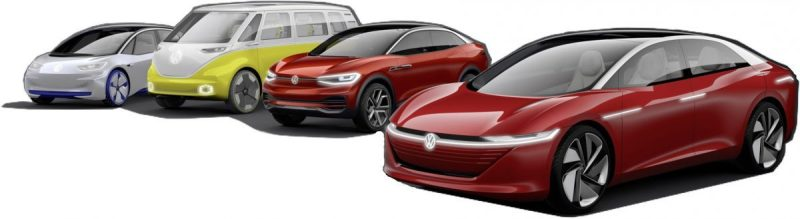 VW I.D. Elektroauto Familie -Elektroauto , E-Autos
