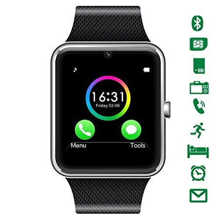 LATEC Bluetooth Smartwatch mit Kamera Unterstützt SIM-Karte & TF-Karte Handy-Armbanduhr Touchscreen Smartwatch Schrittzähler- ca. 22 € bei Amazon -     Smartwatch und autonome Staubsauger