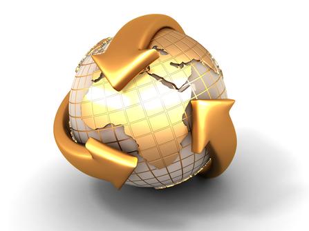 Goldene-Weltkugel-3-goldene-Pfeile-umschlingen-eine-goldene-Weltkugeln-Beitragsbild-von-emoove.net