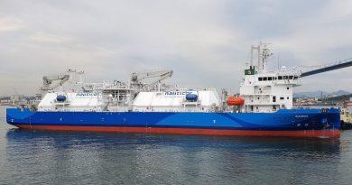 Kairos - LNG Bunkerschiff, Tankschiff, south-korea-schultes-lng-bunkering-vessel-almost-ready-for-ops-768x421 - Foto Ingworldnews