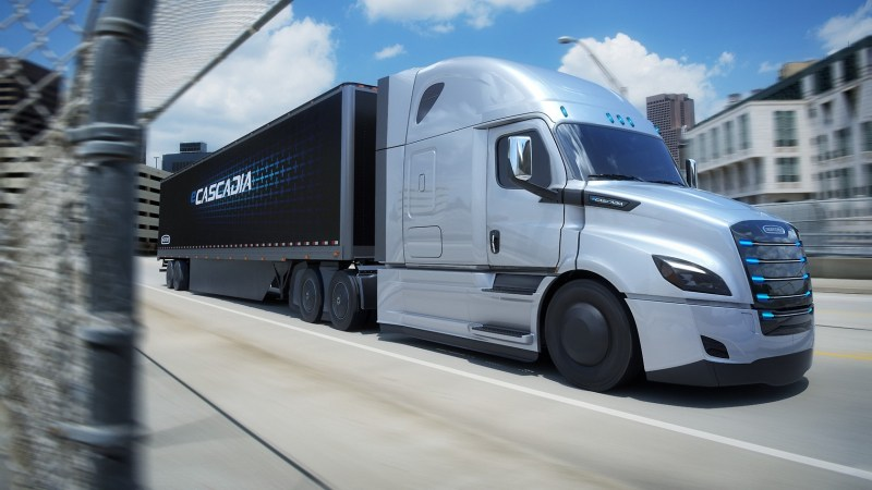 Daimlers Elektro-Schwertransporter eCascadia