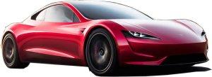 Tesla Roadster - ausgeschnitten