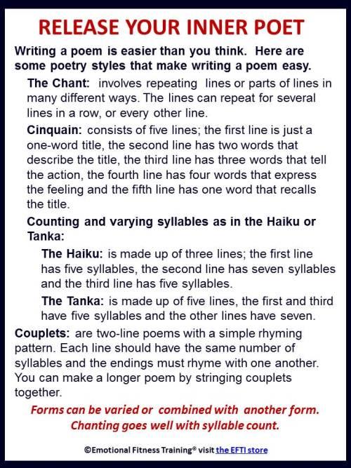 Easy ways to write a poem