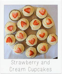 Strawberry and Cream Cupcakes Menu Box