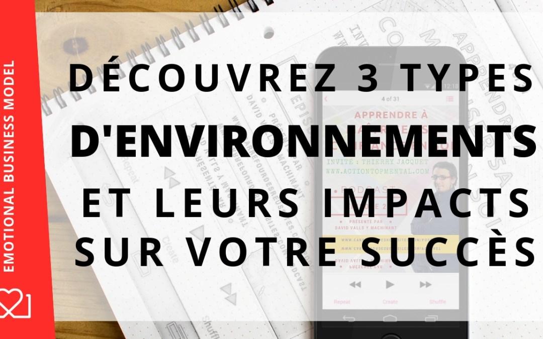 Découvrez les 3 types d'environnements et comment ceux ci vous empêchent de réussir !