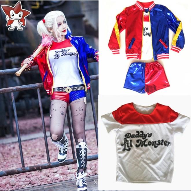 2017-New-Girls-Kids-Suicide-Squad-Harley-Quinn-JOKER-cosplay-Costume-Outfit-Set-halloween-children