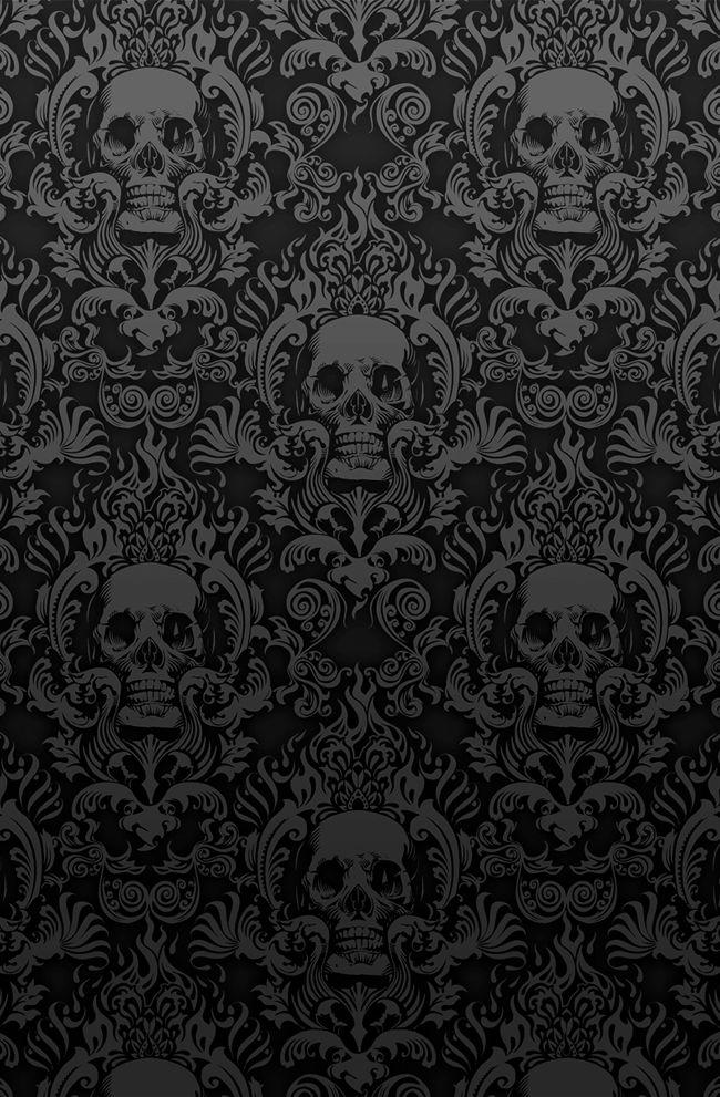 25bece0ea08966b4bfcf9441a9b09680--skull-wallpaper-damask-wallpaper