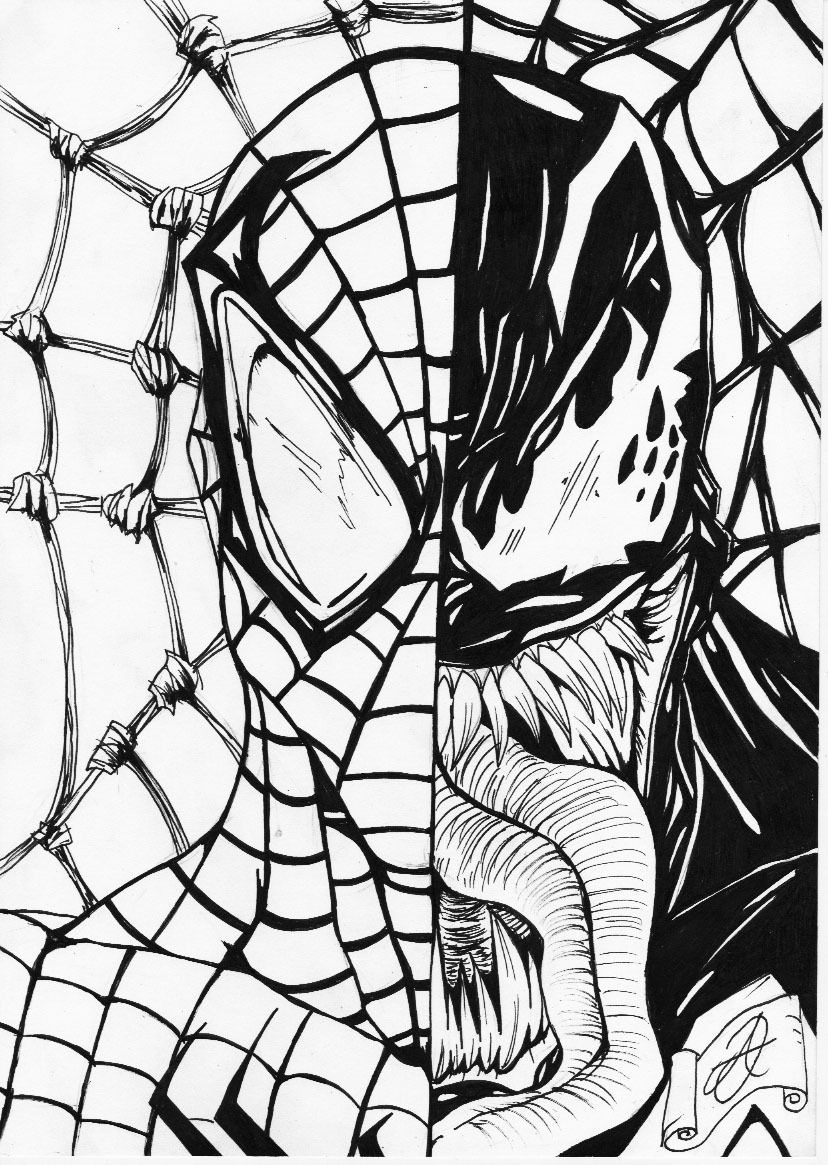 spiderman-and-venom-coloring-pages-children-coloring-agent ...
