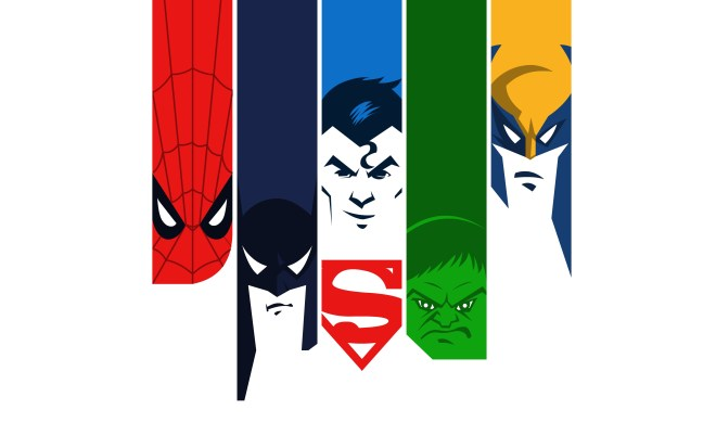 spiderman_batman_superman_hulk_minimal_4k-wide